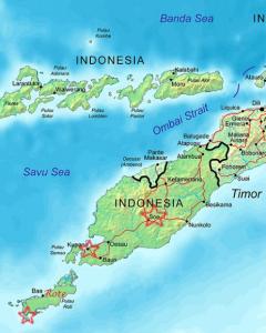 timor occidental carte